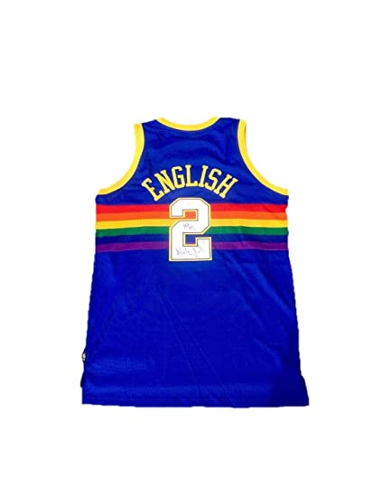 size 40 0701f 88d48 Alex English Autographed Jersey - Home - JSA Certified ...