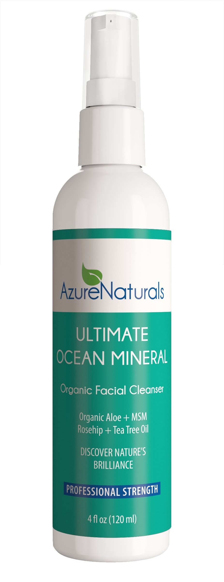 ULTIMATE OCEAN Mineral Organic Facial Cleanser Offers High-End Spa Quality Oceanic Minerals Will Nourish Dry Skin & Damaged Skin, Diminish Discoloration & Leave your Skin Clean, Healthy, Youthful! by Azure Naturals