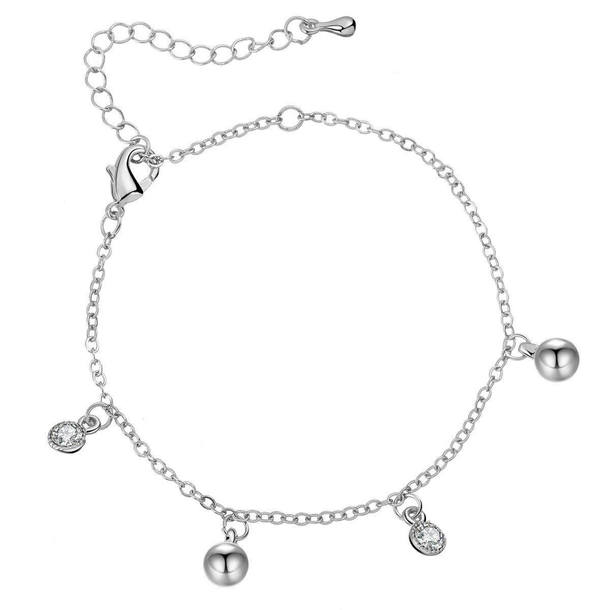 Bracelet de Cheville pour Femme, Bracelet de Cheville avec Breloques en Forme d'animals sous-Marin avec Cristal CZ Cadeau pour Amis Ouran jewelry JL0040