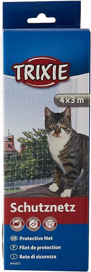 TRIXIE Red protección, 4 x 3 m, Transparente, Gato: Amazon.es: Productos para mascotas