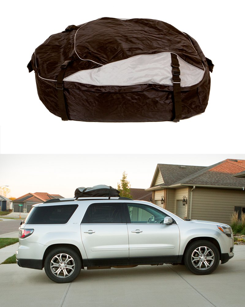 Extra-Large XL 12 Cubic Feet Car Rooftop Cargo Carrier Travel Luggage Bag ABN Vehicle Roof Cargo Carrier Roof Bag