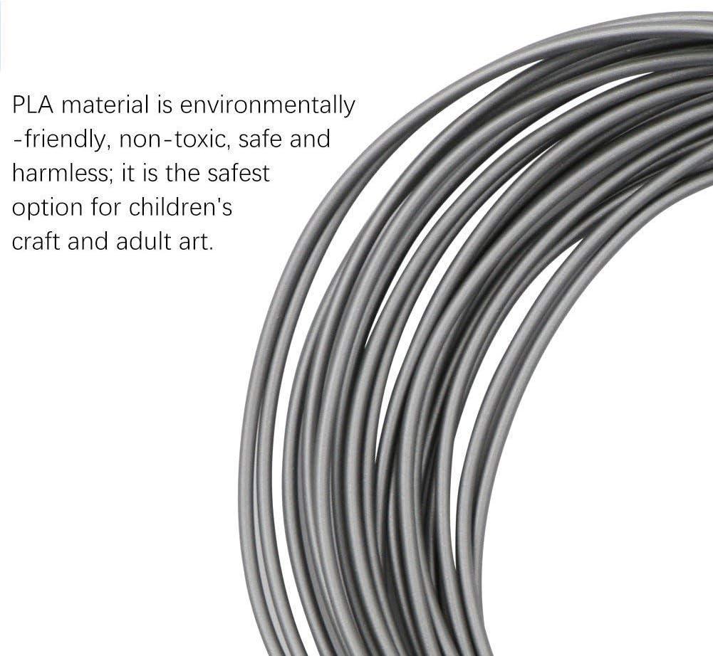 Filament PLA 1.75mm 5m par Rouleau Filament Imprimante 3D 3D Print Filaments pour Enfants Filamant de Crayon 3D pour Dessin 20 Couleurs PLA Recharges de Stylo /à Impression 3D en PLA