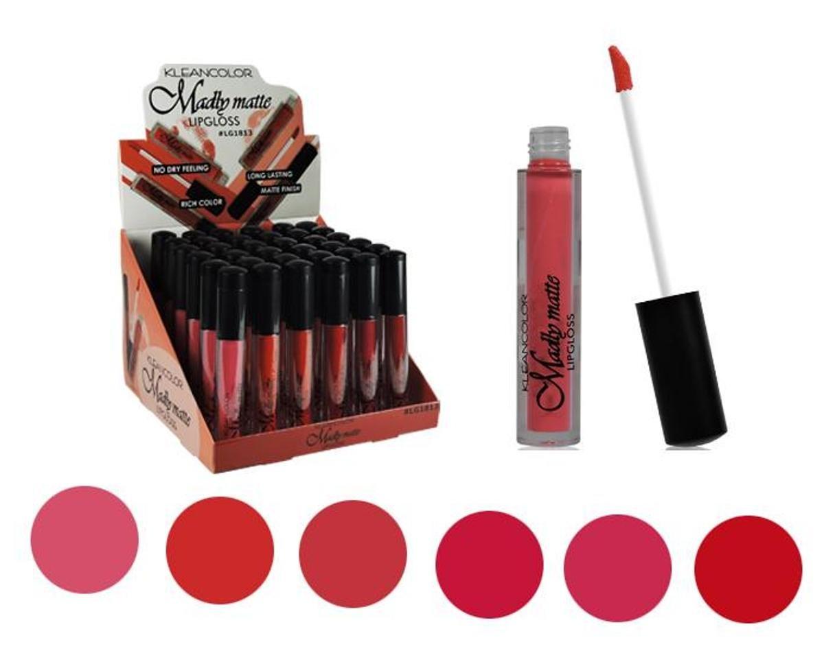 Set of 6 Colors Madly MATTE Lipgloss Bold & Vivid Color Matte Lipgloss Set #3