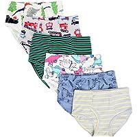Kidear Culottes d'enfant Souple en Coton sous-vêtements Varié pour Petit Garçon Slip (Lot de 6)