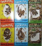 Hotlix real crickets to eat Crick-ettes Variety Pack of Six