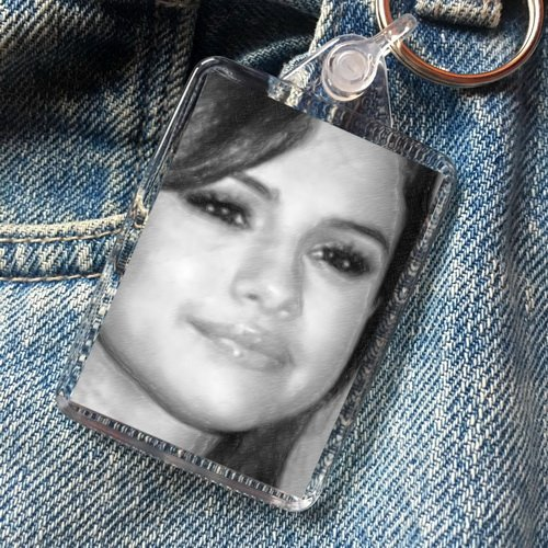 Selena Gomez - Original Art Keyring #js004