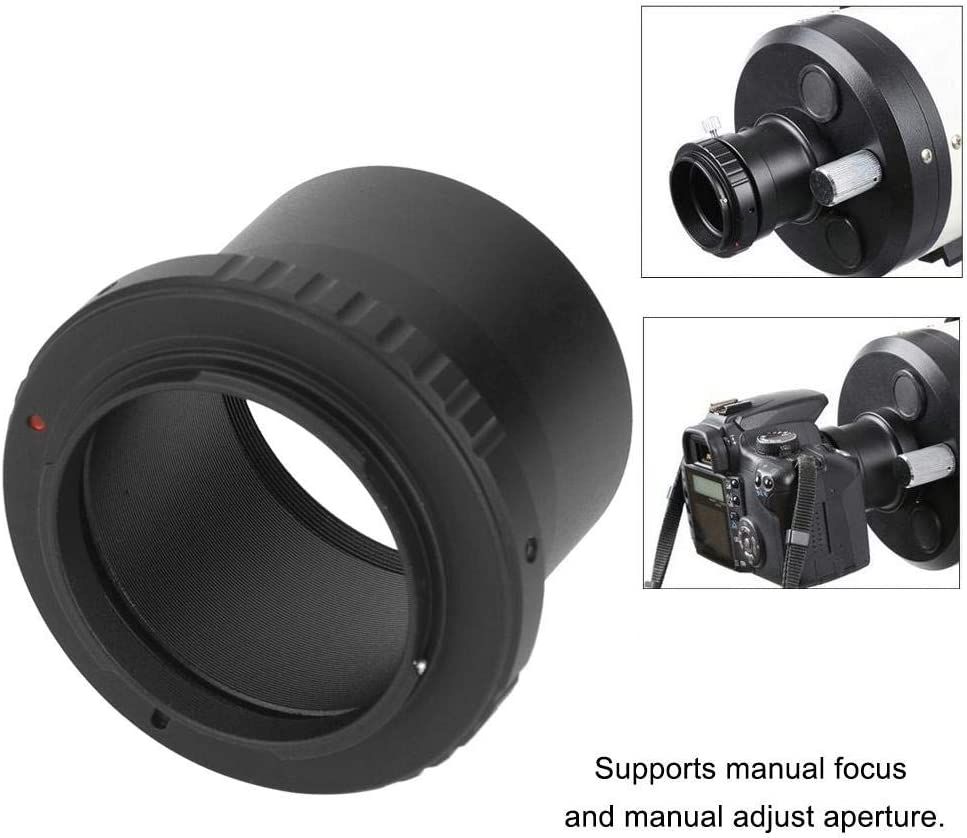 48mm Thread to AI Mount Lens Adapter Ring and 2 Inch Telescope Eyepiece Adapter for Nikon AI SLR Camera