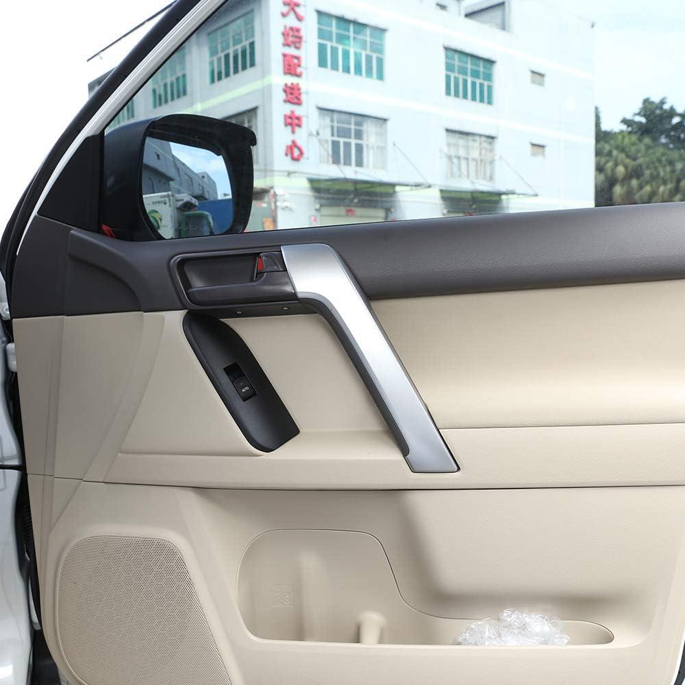 LLKUANG 4pcs Car ABS Interior Door Handle Frame Cover Trim for Toyota Land Cruiser Prado FJ150 150 2010-2019