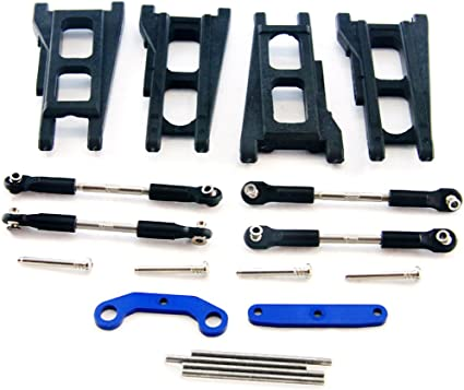 TURNBUCKLES /& PINS Traxxas 1//10 Slash 4x4 Platinum  FRONT//REAR SUSPENSION ARMS