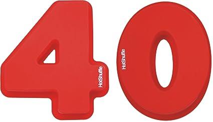 Gran número 40 de silicona Cake Molde de estaño 40mo aniversario de bodas de rubí cumpleaños