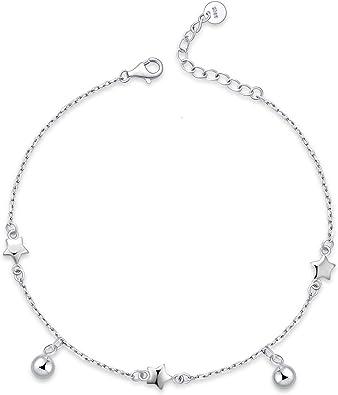 Bracelet Anklet Ankle Cotton Bead Jewellery Silver Adjustable Foot Boho Girls