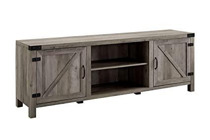 fe088c5b0d363 Image Unavailable. Image not available for. Color  Walker Edison Furniture  Company 70 quot  Modern Farmhouse Barn Door TV Stand - Grey Wash