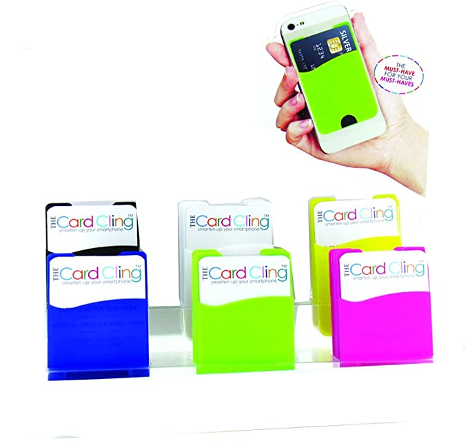 DM Merchandising  THE CARD CLING  Assorted  Cell Phone Card Cling  For Universal