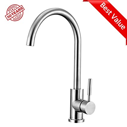 ABLinox Kitchen Sink Faucet 304 Stainless Steel Water Tap, Brushed ...