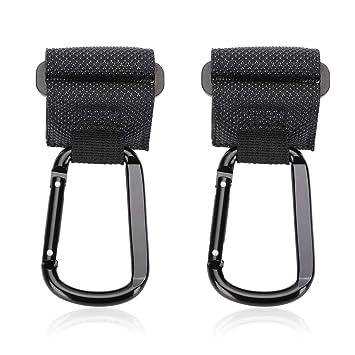 2 Pack Accmor Stroller Hooks Universal Stroller Hooks for Stroller Wheelchair Shopping Cart,Walker