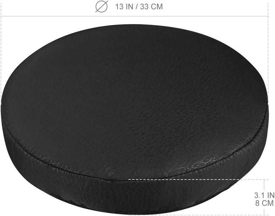 Noir 33 cm Vorcool Housse ronde en coton /élastique pour tabouret