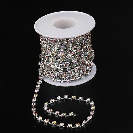 Amazon.com  Hongxin 10 Yards Roll Clear Crystal SS6.5-SS16(2mm-4mm ... 1eb837ca48fc
