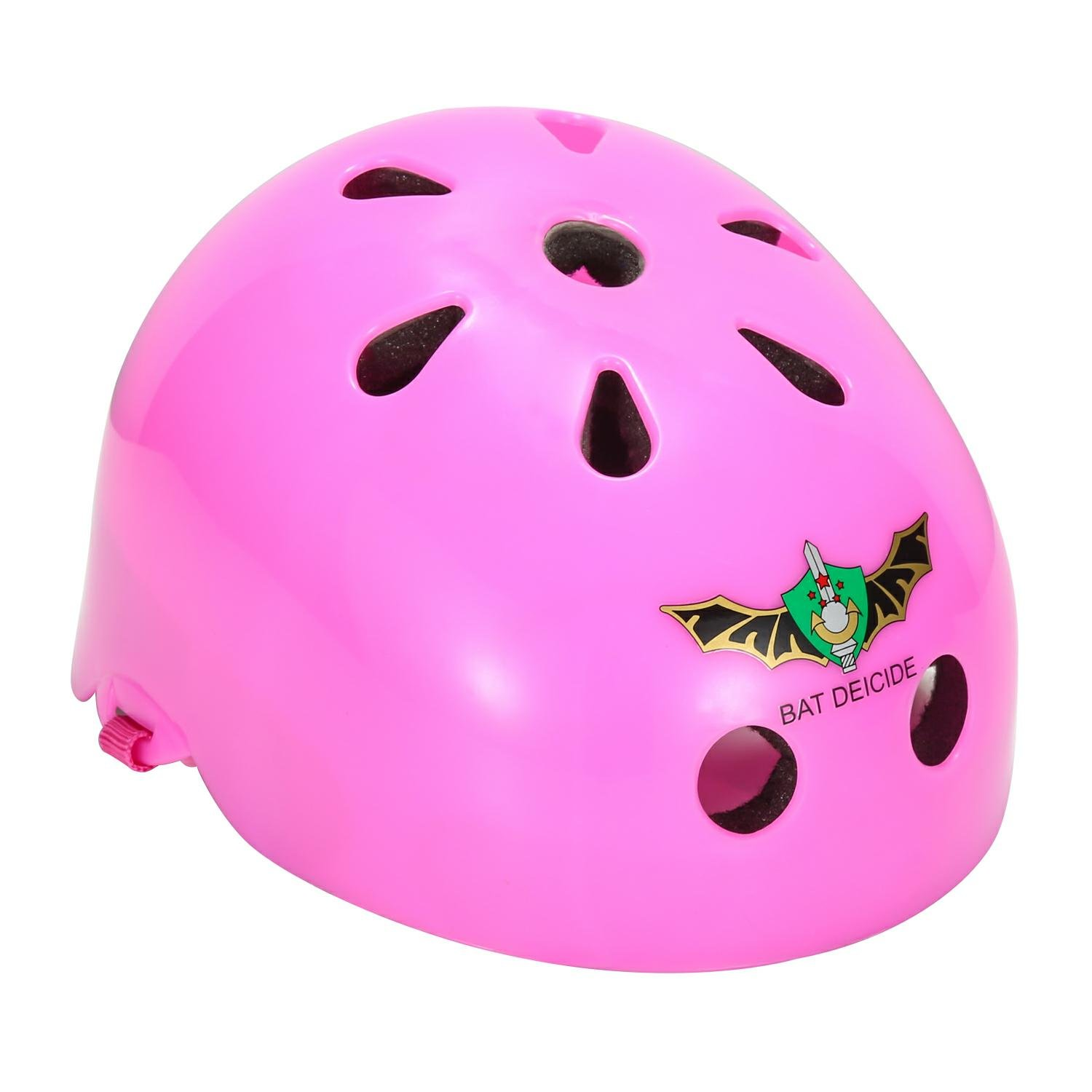 ASIBT Kid's Skateboard Helmet Sets Cycling Roller Skating Helmet Elbow Knee Pads Wrist Sport Safety Protective Guard Gear Set for Children of age 3-8 years old (Pink) by ASIBT (Image #2)