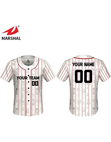 02b7f75ab ZHOUKA Custom Sublimated Uniform Shirts New Baseball Top Short Sleeves Full  Front Button Jerseys
