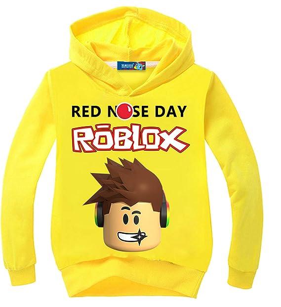 Vannie Niños Roblox Jugador Pull-Over 100% Algodón Niños Sudaderas con Capucha Red Nose Day Cool Juego Pull-Over para Niños Niñas Adolescent: Amazon.es: ...