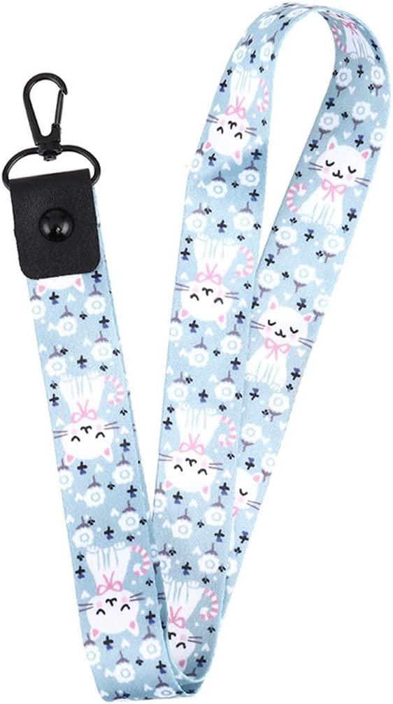 Cartoon Cute Cat Bamboo Lanyard Neck Strap for Keys Id Card Mobile Phone Straps for USB Badge Holder DIY Hang Rope,H01