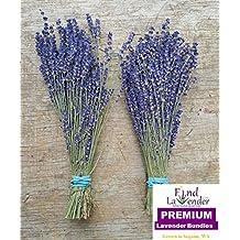 "Findlavender - Royal Velvet Lavender Bundles - 14"" - 16"" Long - Can Be Used for Any Ocassion - Perfect for your wedding! - 2 Bundles"
