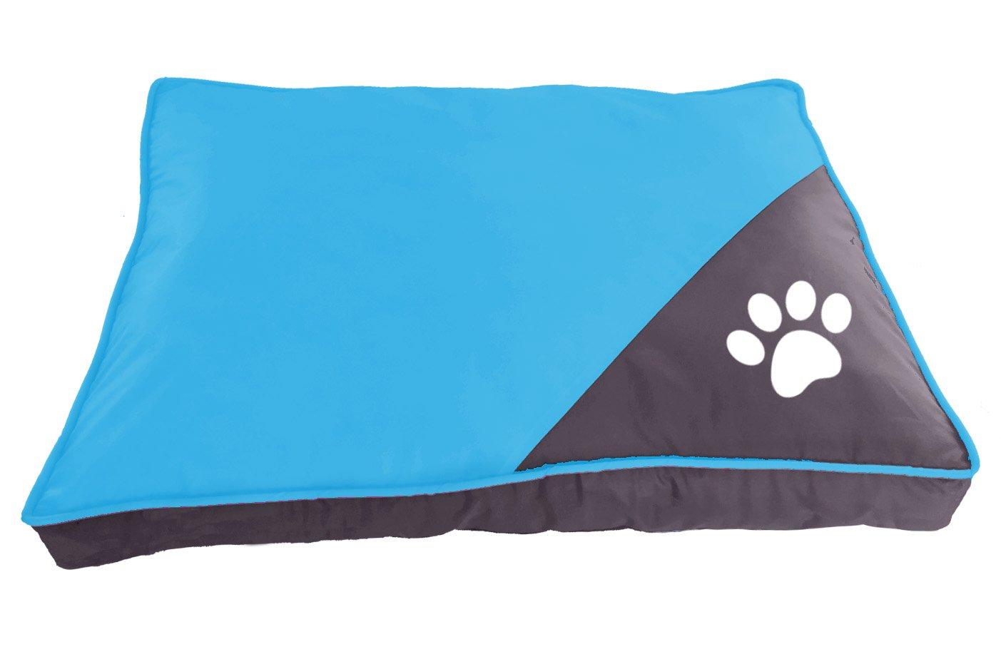 L, Azul BPS-1595AZ BPS Colchoneta Cuna para Perros Mascotas de Verano Cama Colch/ón Manta Sof/á Suave con Material Tela Oxford Varios Colores y 2 Medidas para Elegir