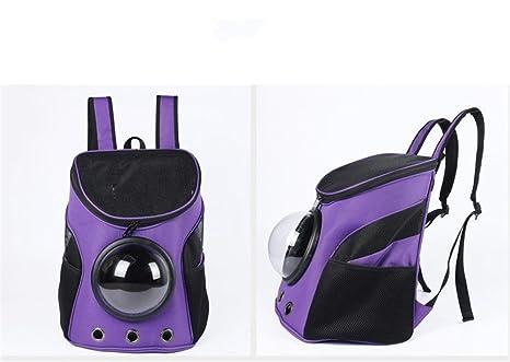 863b7052acc Vedem Pet Durable Nylon Carrier Bag Cat Dog Traveler Bubble Backpack  (Purple)