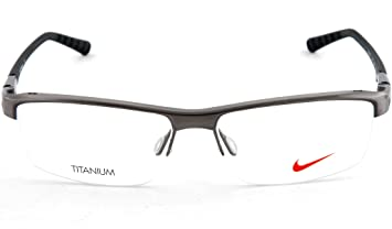 6a7d945bc0 Amazon.com  NIKE Eyeglasses 6050 068 Brushed Dark Gunmetal 53MM ...