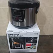 InnovaGoods IG114222 Robot de Cocina con Recetario, 800 W, 4 Litros, Negro