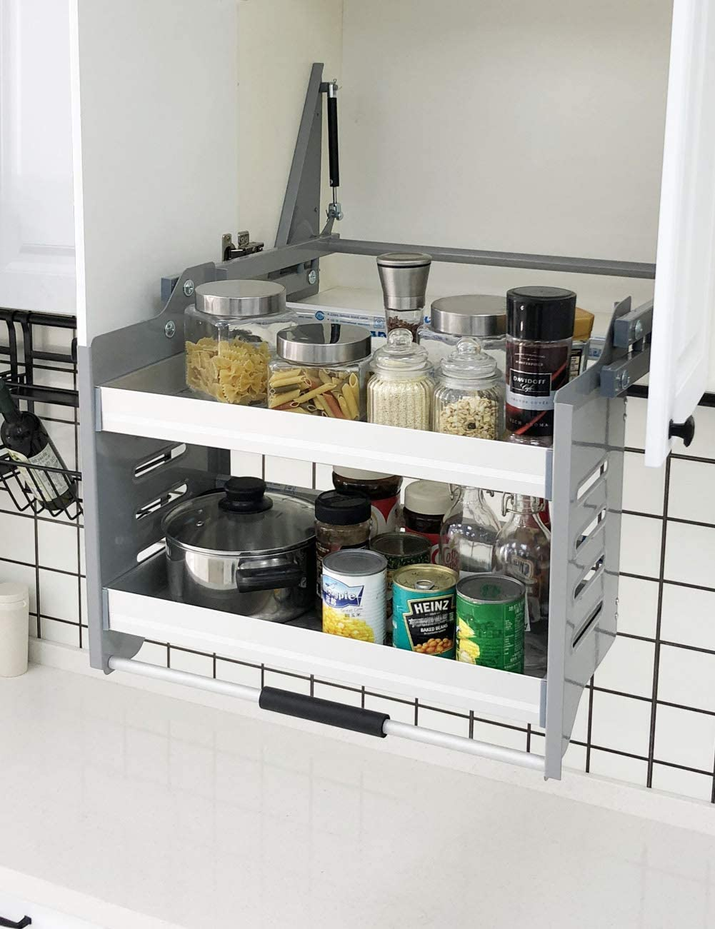 Amazon Com Cabinet Pull Down Shelf Kitchen Wall Cabinet Storage Organizer 30inch Cabinet Home Kitchen