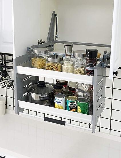 Amazon Com Cabinet Pull Down Shelf Kitchen Wall Cabinet
