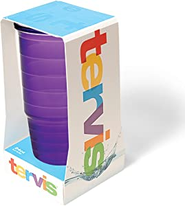 Tervis Clear & Colorful Insulated Tumbler, 24 oz Tritan, Amethyst