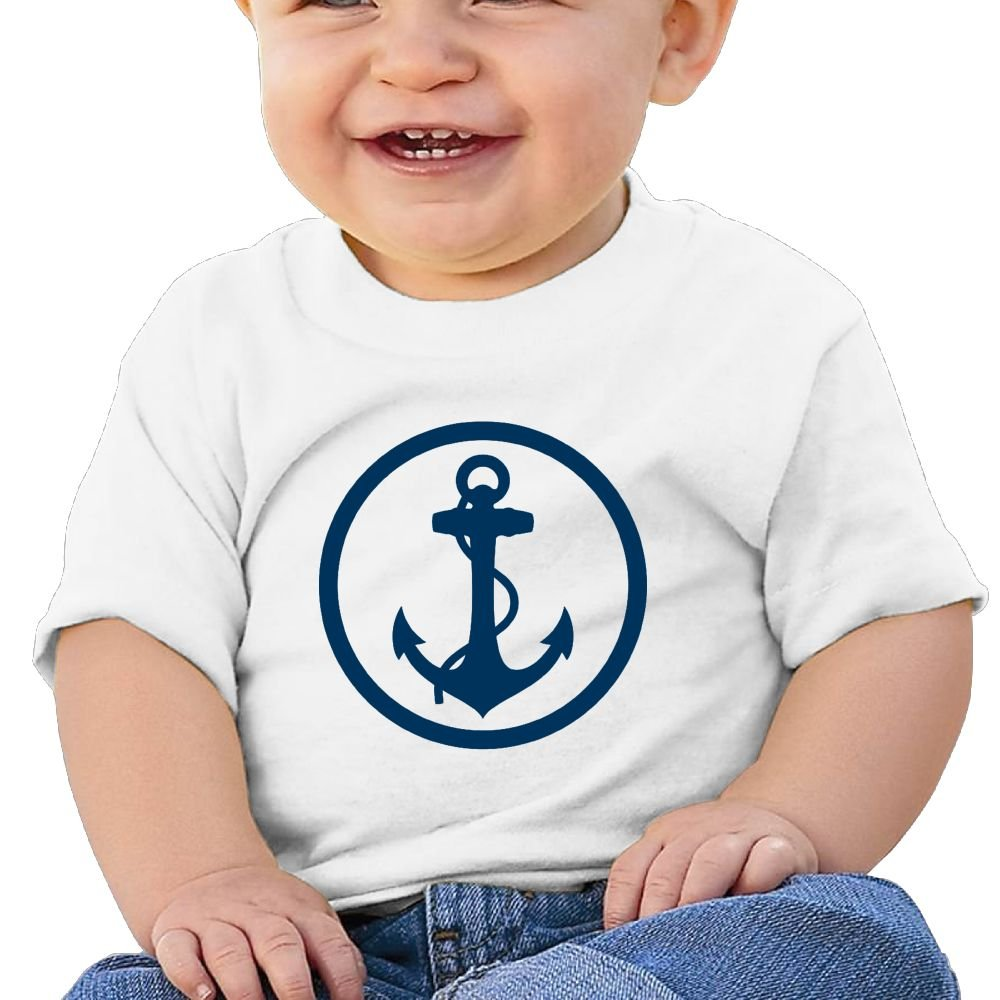 Anchor Logo Cotton Short Sleeve T Shirts for Baby Toddler Infant