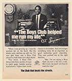 1984 O.J. Simpson Boys Club Helped Me Run My Life Photo Print Ad (Memorabilia) (62870)