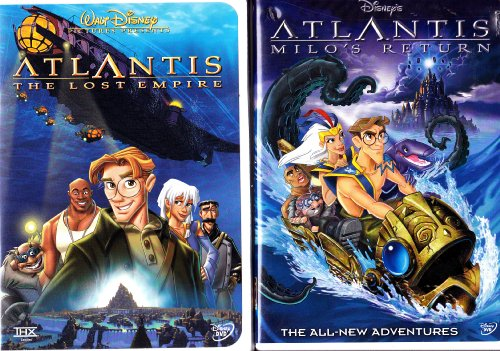 Atlantis the Lost Empire , Atlantis Milo's Return : Walt Disney 2 Pack