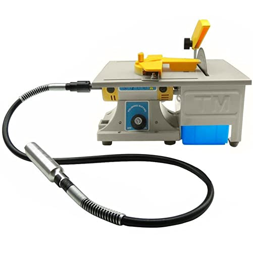 Dzhot51 110V 350W TM-3 Mini Table Saw Gem Jewelry Rock Polishing Buffer Bench Lathe Polisher Machine Kit 0 10000RPM