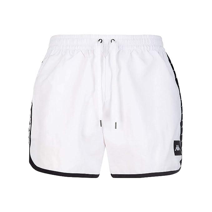 fc4df2710d1e Kappa AUTHENTIC AGIUS COSTUME UOMO BIANCO 303WH90974 Bianco M: Amazon.it:  Abbigliamento