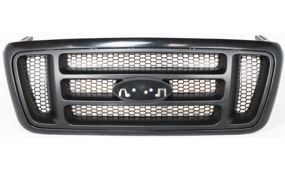 Pickup Truck Grill Grille Dark Gray Bar Style Honeycomb Insert Assembly 400-18154 FO1200414 4L3Z8200BAPTM CarPartsDepot