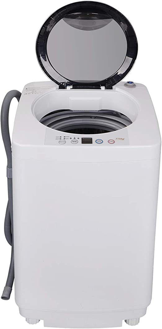 8 lbs kapas kps35-735h2 upgraded compact washing machine fully automatic 2-in-1 washer and spin dryer machine build-in pump and long hose capacity 8 lbs top load tub washer