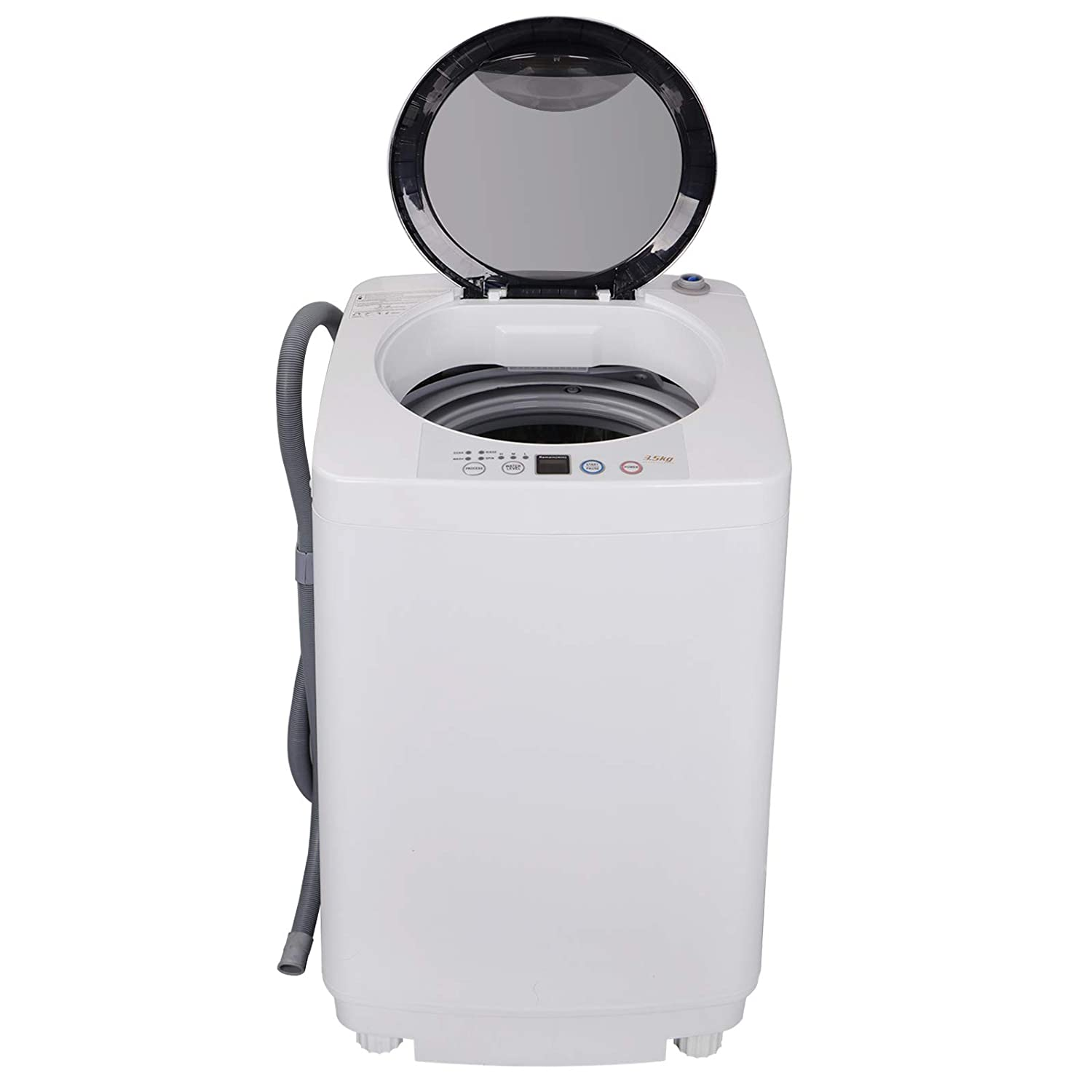 ZENY 2-in-1 Compact Mini Twin Tub Washing Machine w/Spin Cycle Dryer, 13Lbs Capacity w/Hose, Space/Time/Energy Saving (Full-automatic 10 lbs)