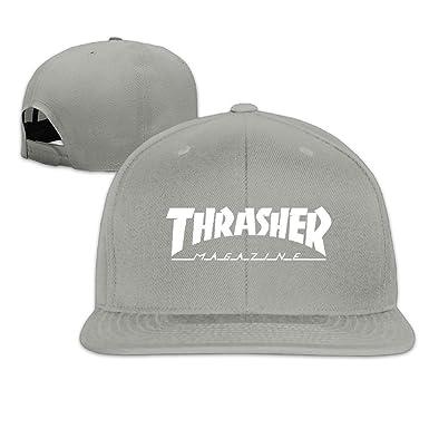 Hittings Male/Female Thrasher Magazine Logo Cotton Flat Snapback ...