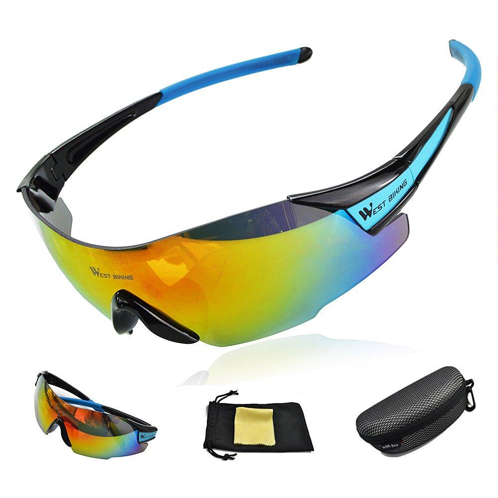 West ciclismo ciclismo gafas 100% protección ultravioleta ...