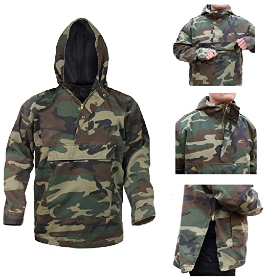 18a4f8fcc7a3d RTC Anorak Woodland Camo Parka Style Outerwear Jacket (Small) at ...