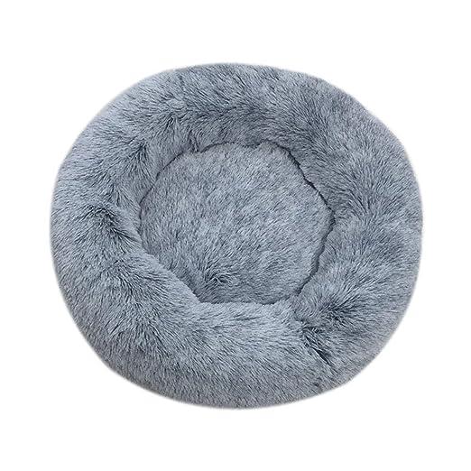 huangThroStore Cama calmante para Perros y Gatos, Cama de Felpa para Cachorros y Perros, Dark Gray, 80 cm