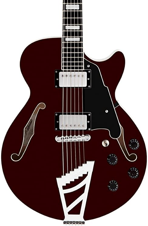 D angelico Premier serie SS semi-hollowbody guitarra eléctrica con stairstep cordal