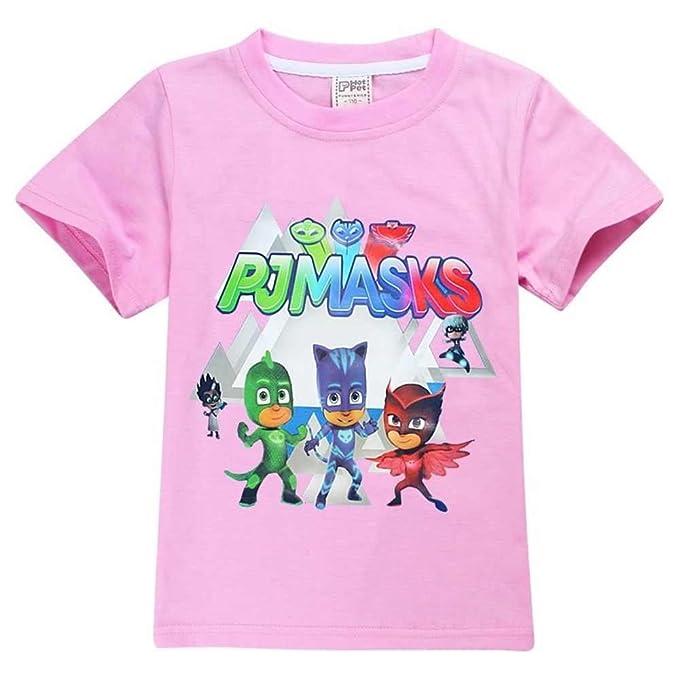 PJ MASKS - Camiseta de manga corta - para niño rosa rosa pastel 5-6