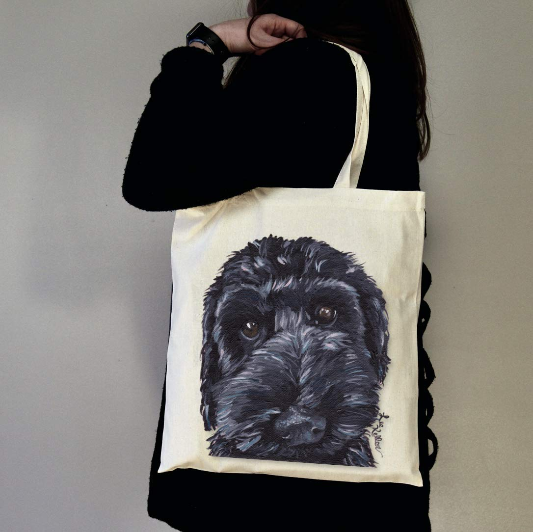 Labradoodle Lover Gifts Black Doodle Gifts Labradoodle Tote Bag