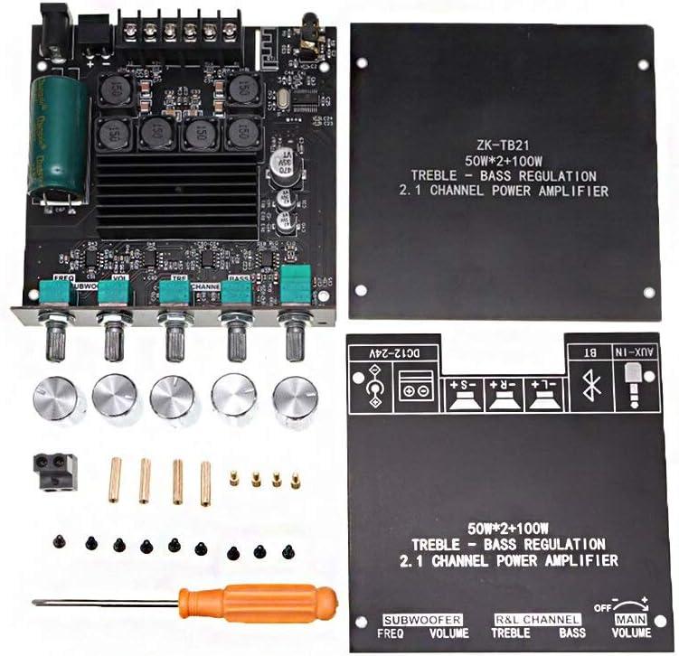 100W 2.1 Canal Power Audio Stereo AMP KEPUSHIYE TPA3116D2 Bluetooth 5.0 Placa de Amplificador de subwoofer 50WX2