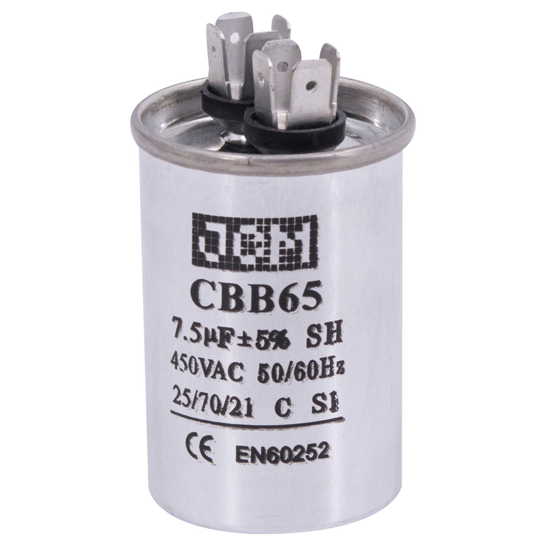 CBB65 Motor Run Capacitor Round 15 Uf MFD 450 Voltios VAC